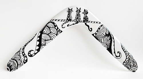 boomerang zentangle gatos