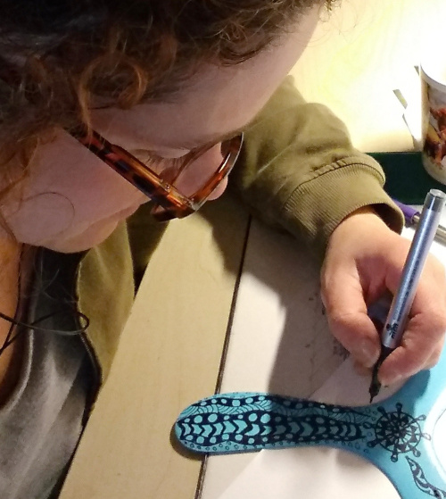 painting zentangle