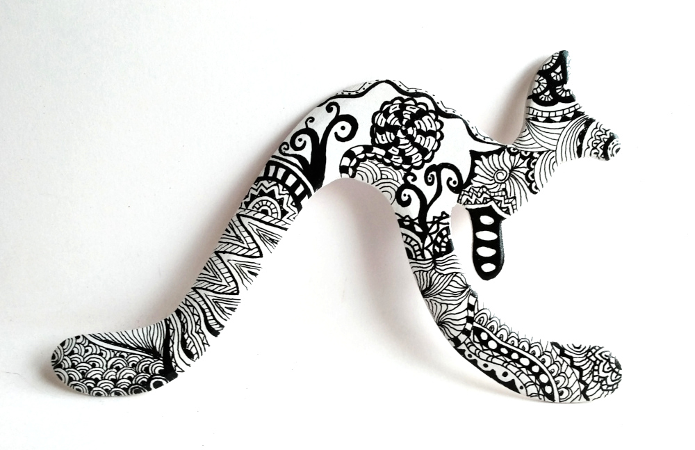 boomerang zentangle canguro